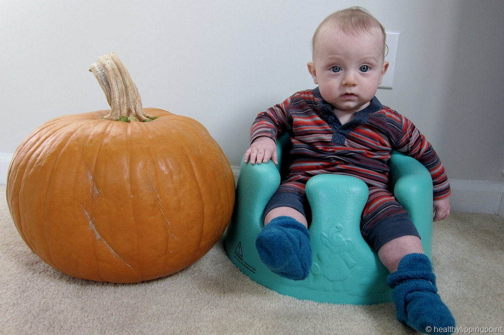 today we carved his first pumpkin i took a cue from young house love and used henryu0027s handprints for pumpkin eyes see