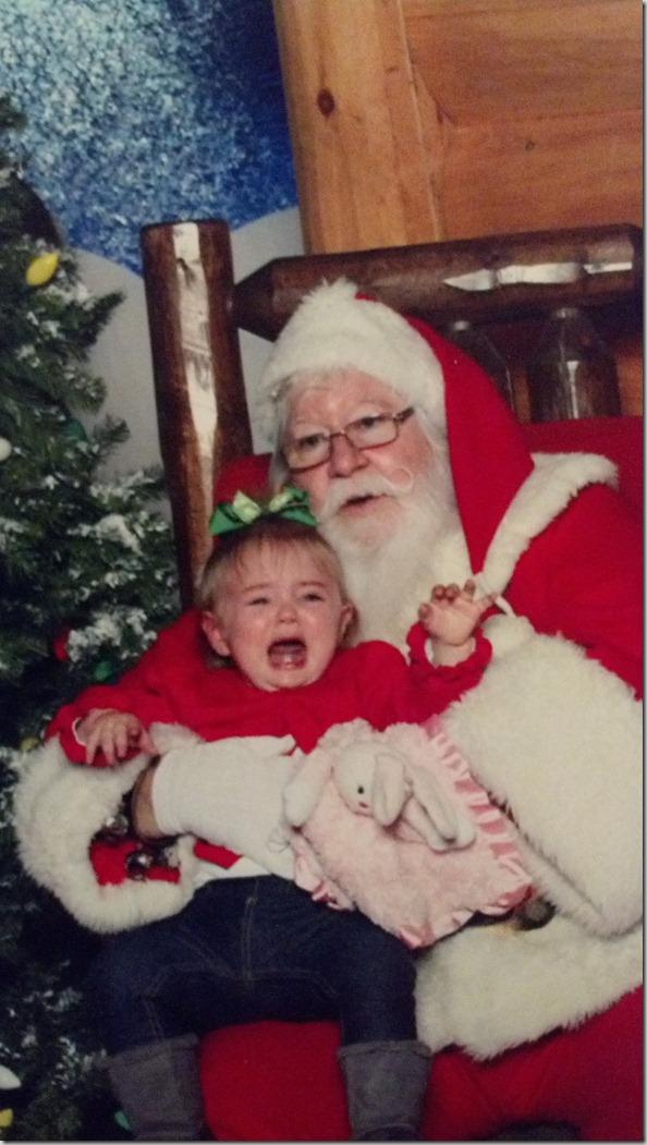 Addie and Santa