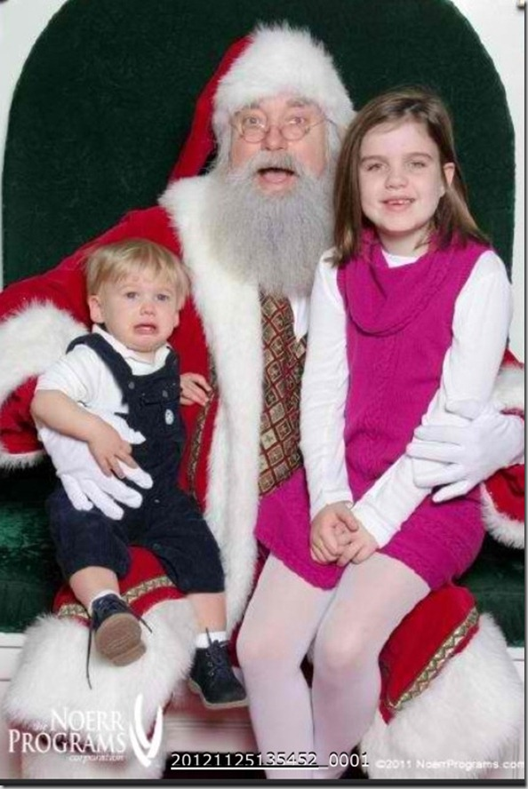 Ashlyn and Weston with santa
