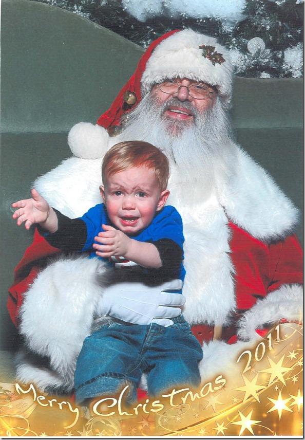 Henry and Santa 2011