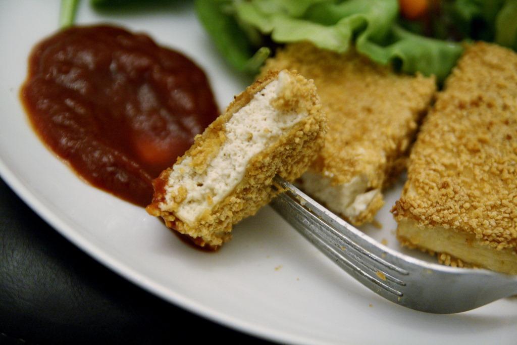 Breaded Baked Tofu
