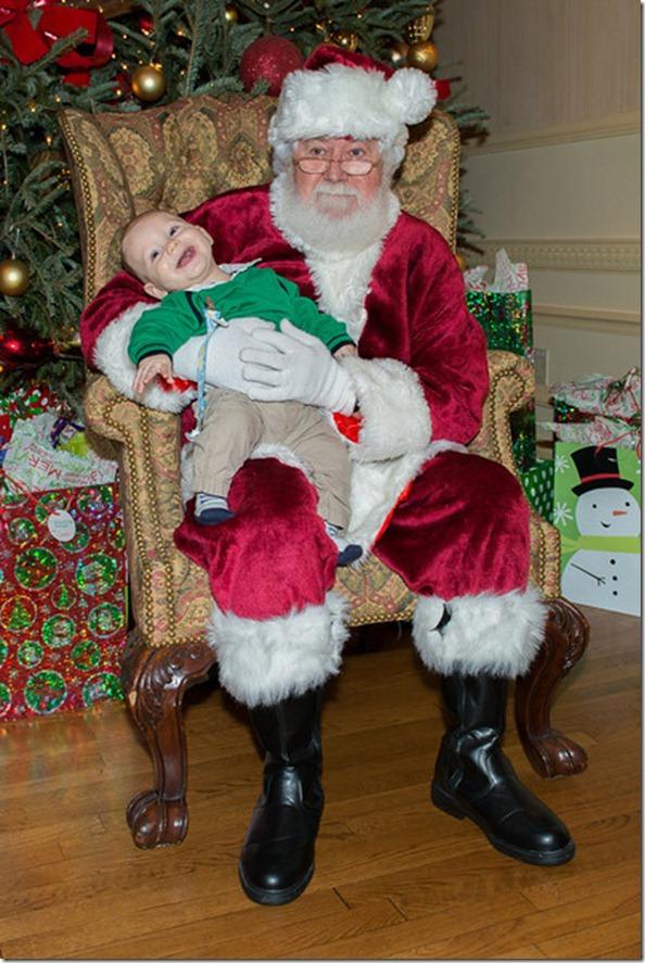 Liam with Santa