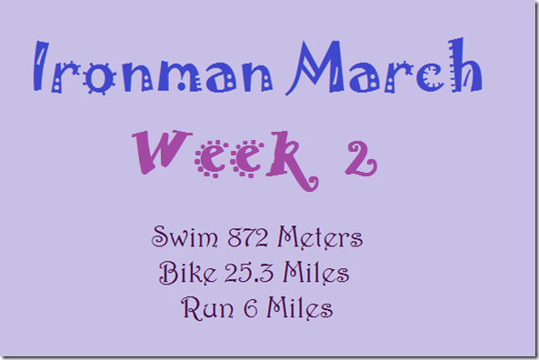 ironman march week 2