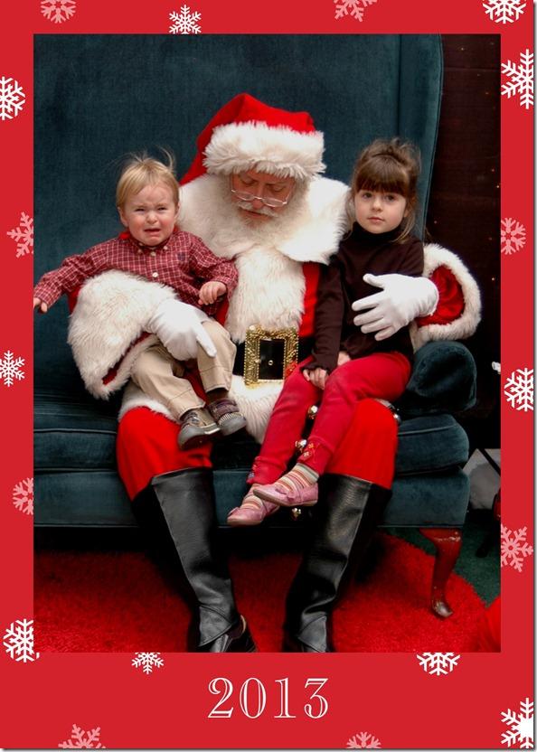 Addie Theo Santa 2013
