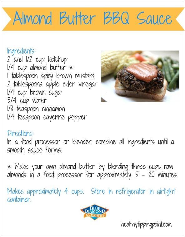 almond butter BBQ sauce