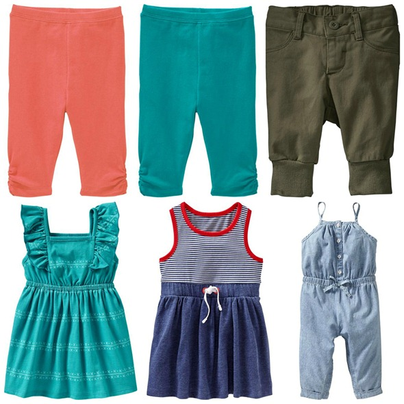 baby girl picks - bottoms and dresses - from old navy
