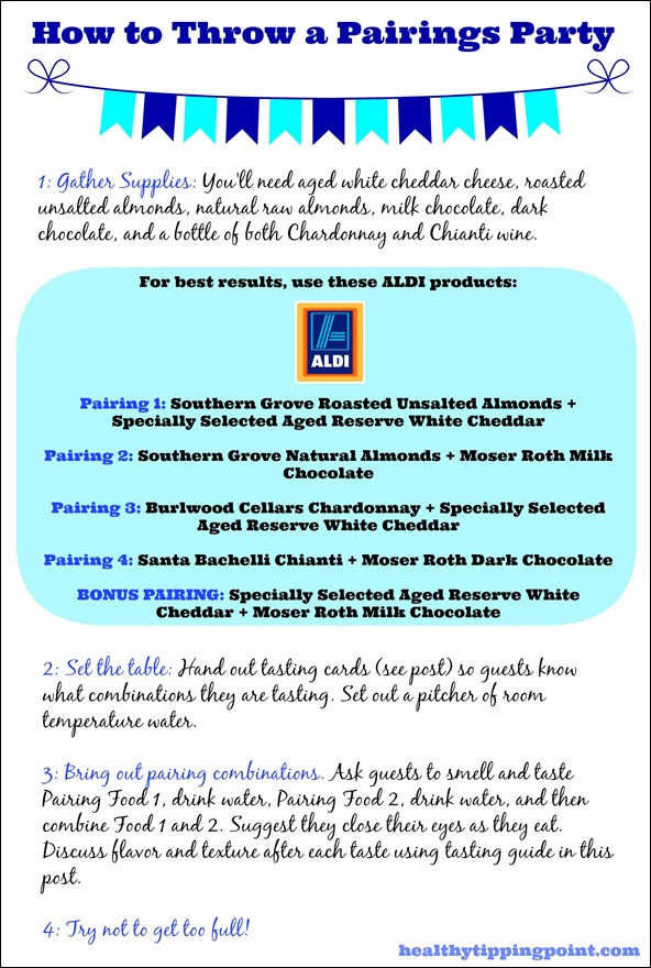 how to throw an ALDI pairings party