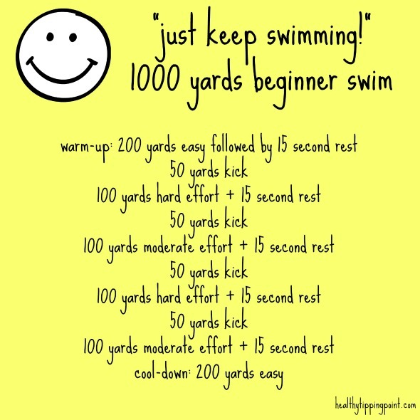 how to start a swimming workout