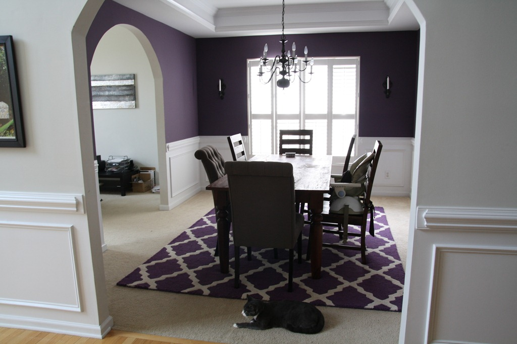 Purple Dining Room. Restoration Hardware Dining Chair Luxury Purple ...