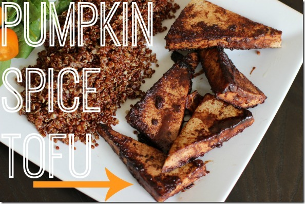 pumkin spice tofu