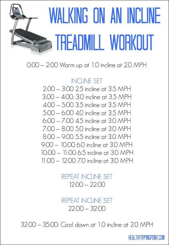 walking treadmill workout
