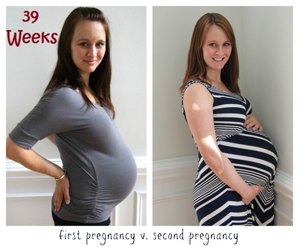 first pregnancy v second pregnancy
