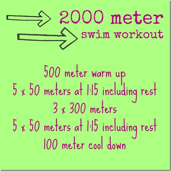 2000 meter swim workout