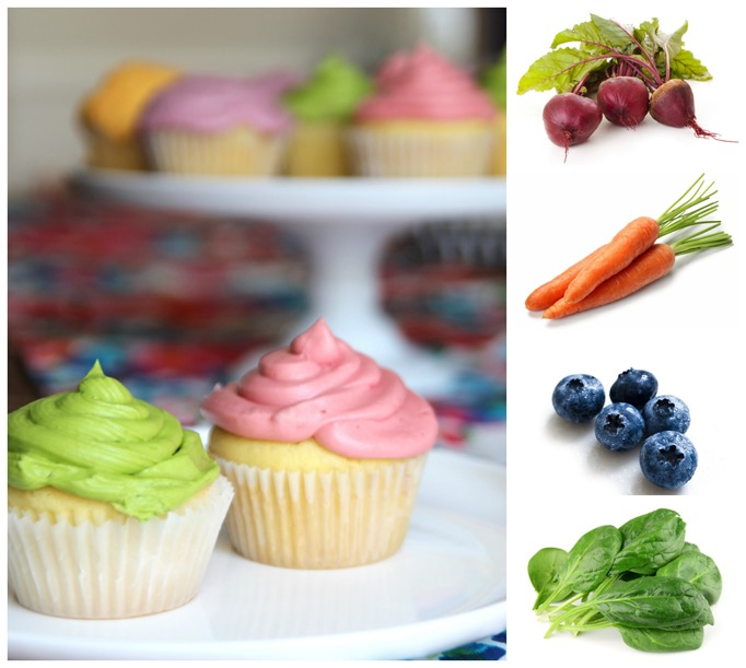 natural dyed icing